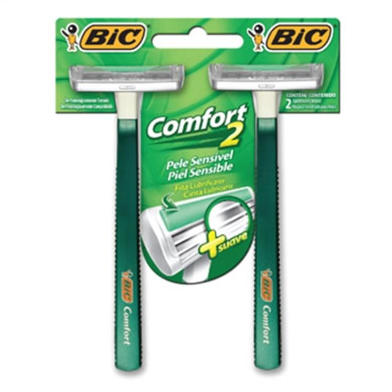 Aparelho Barbear Bic Comfort Twin Pele Sensível Unit