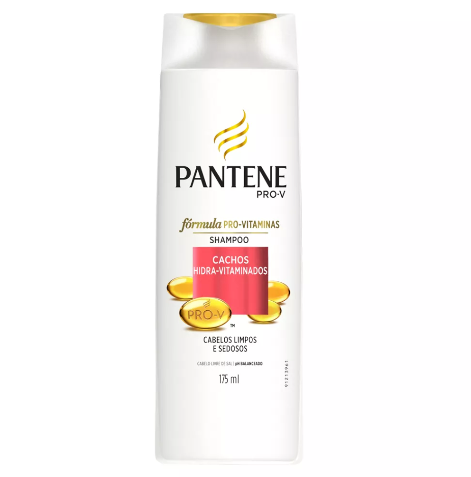 Shampoo Pantene Cachos Hidra Vitaminados Frasco 175ml