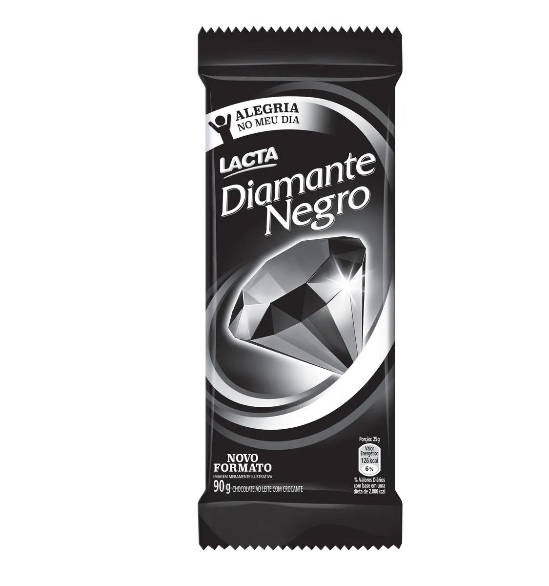 Tablete De Chocolate Diamante Negro 90g Lacta