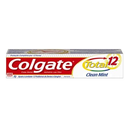 Creme Dental Clear Mint Colgate Total 12 Caixa 90g