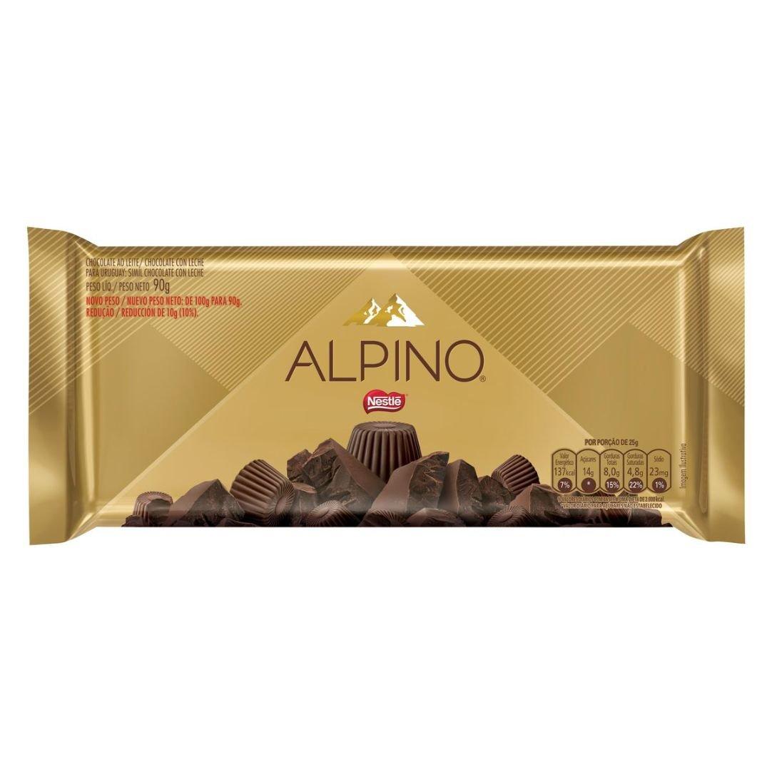 Chocolate Ao Leite Nestlé Alpino Pacote 90g