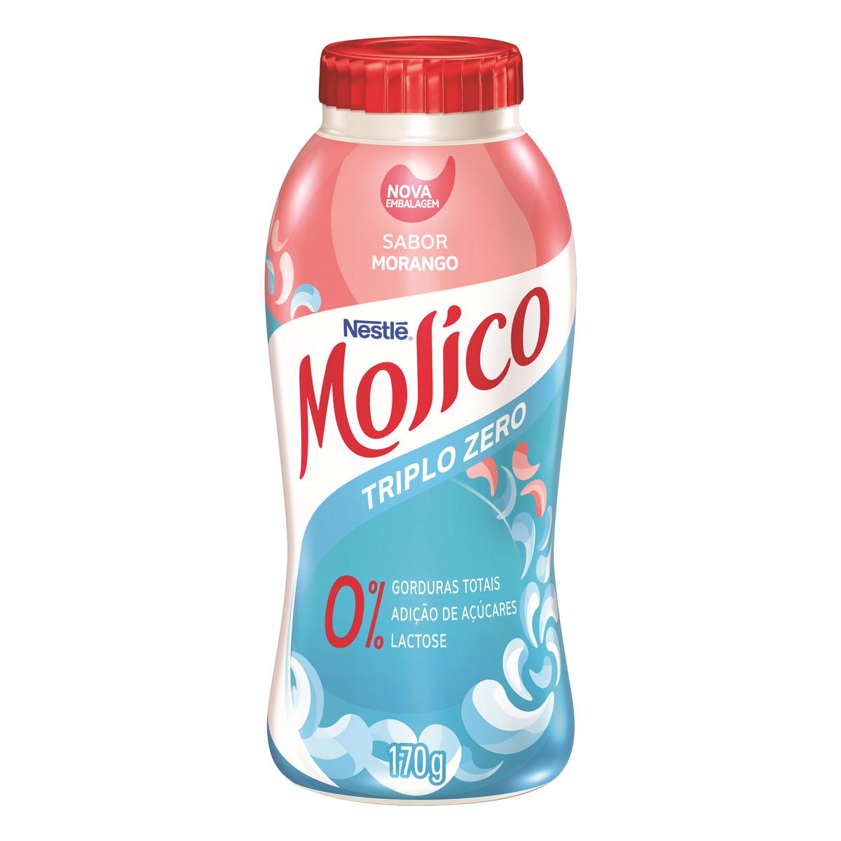 Iogurte Molico Morango Zero Lactose 170G