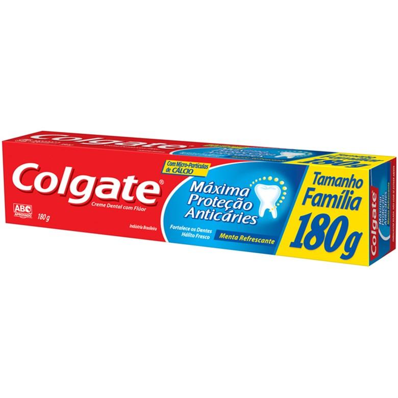 Creme Dental Máxima Proteção Anticárie Menta Refrescante Colgate Caixa 180g