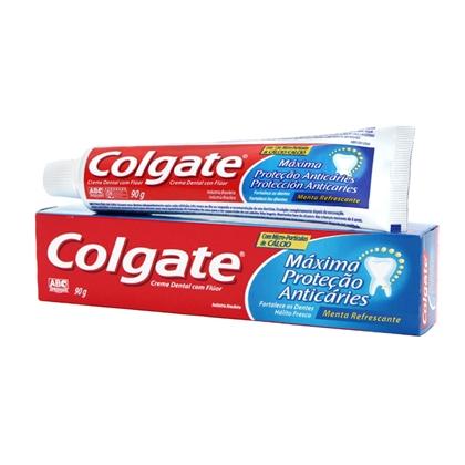 Creme Dental Máxima Proteção Anticárie Menta Refrescante Colgate Caixa 90g