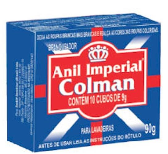 Branqueador Pós Lavagem Anil Colman 90g Cubo Unit