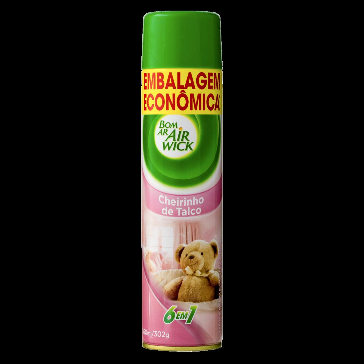 Neutralizador De Odores 6 Em 1 Cheirinho De Talco Air Wick Bom Ar Frasco 360ml Embalagem Econômica