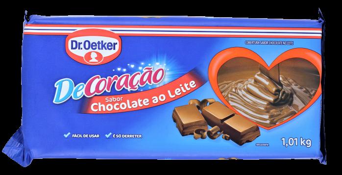 Chocolate Barra Dr. Oetker Cobertura Ao Leite 1,01Kg