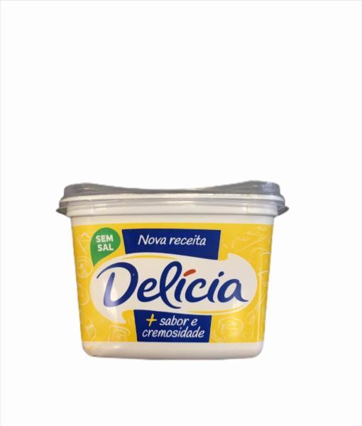 Margarina Sem Sal Delícia Sabor E Cremosidade Pote 500g