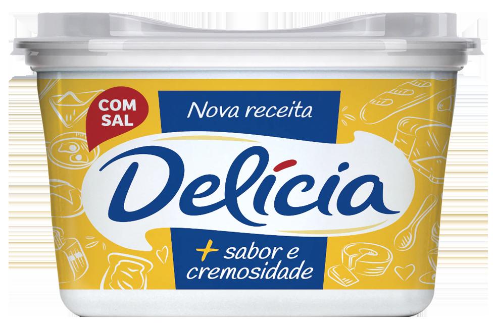 Margarina Com Sal Delícia Sabor E Cremosidade Pote 500g