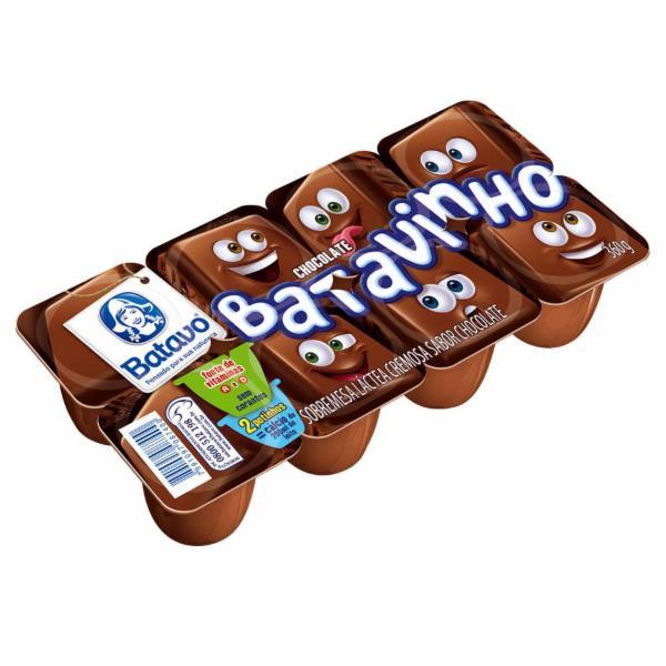 Sobremesa Láctea Chocolate Batavo Batavinho Bandeja 360g 8 Unidades