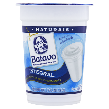 Iogurte Natural Batavo Integral 170G