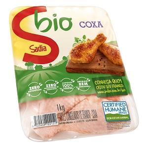 Coxas de Frango Sadia Bio Congelado Bandeja 1Kg