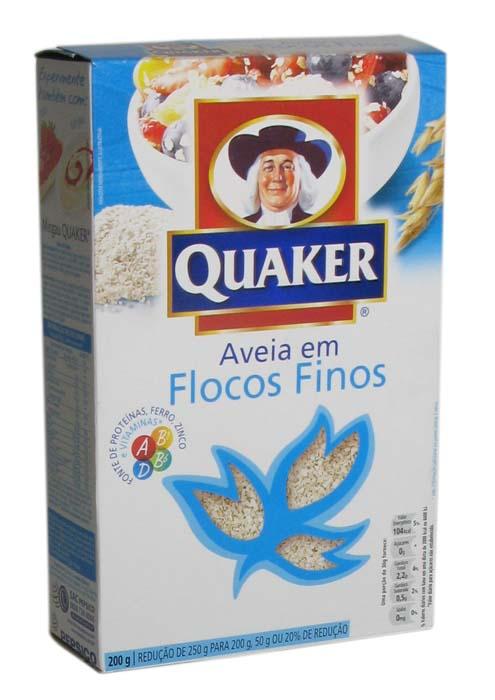 Aveia Quaker Flocos Finos 165G