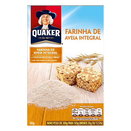 Farinha de Aveia Integral Quaker 165G
