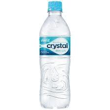 Água Mineral Natural Sem Gás Crystal Garrafa 500ml