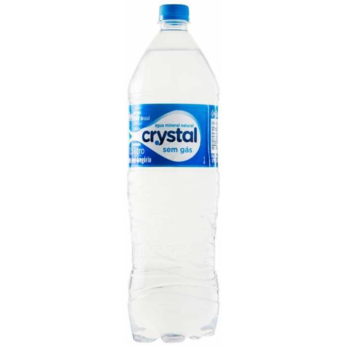 Água Mineral Natural Sem Gás Crystal Garrafa 1,5l