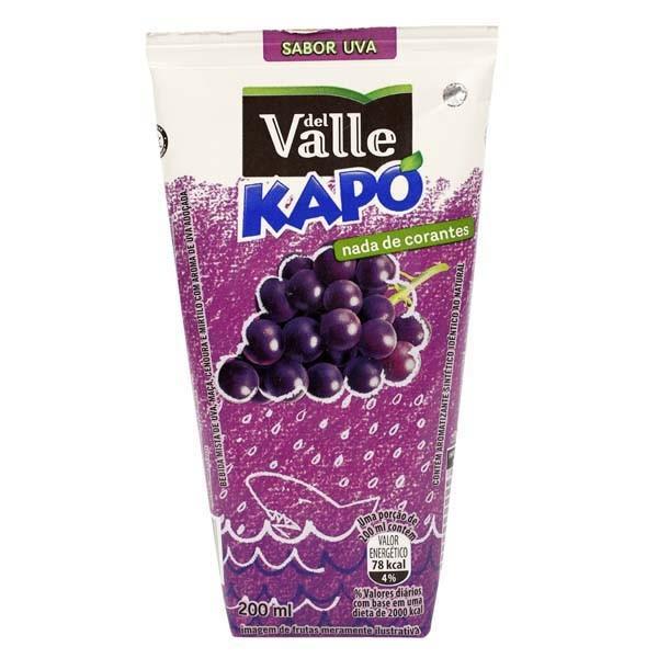 Bebida Adoçada Uva Del Valle Kapo Caixa 200ml