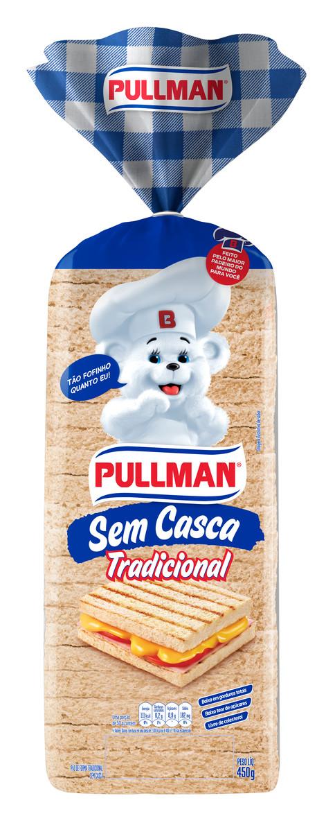 Pão de Forma sem Casca Tradicional Pullman Pacote 450g
