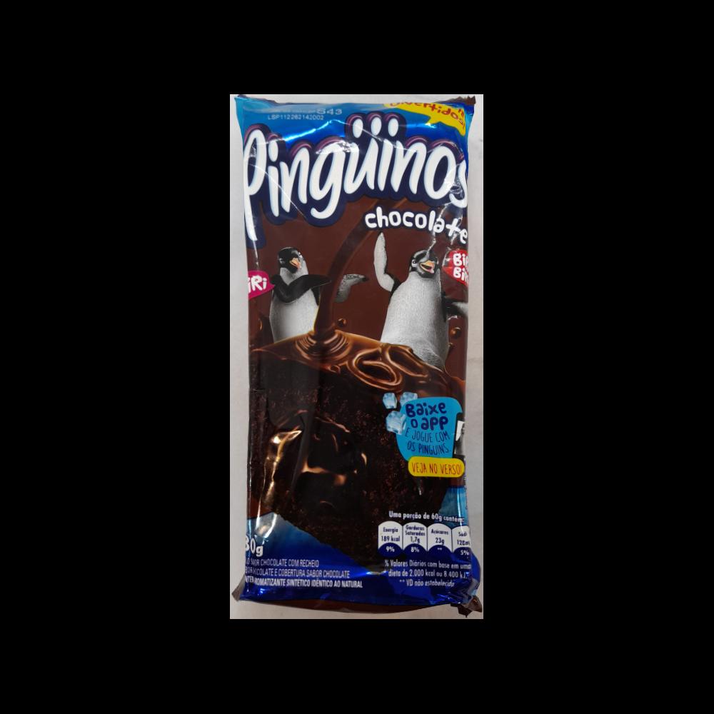 Bolinho Pinguinos Triplo Chocolate 80G
