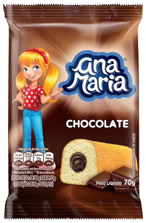 Bolinho Ana Maria Chocolate 70G