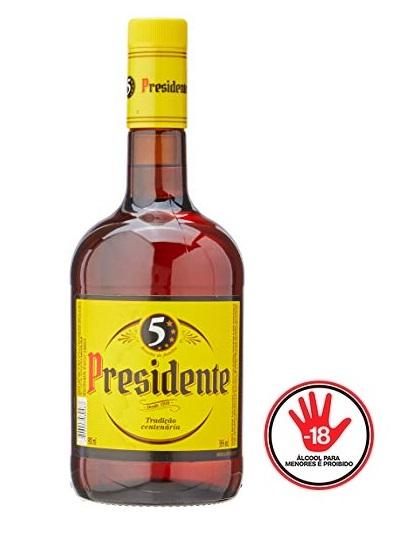 Conhaque Composto Gengibre Presidente Garrafa 970ml
