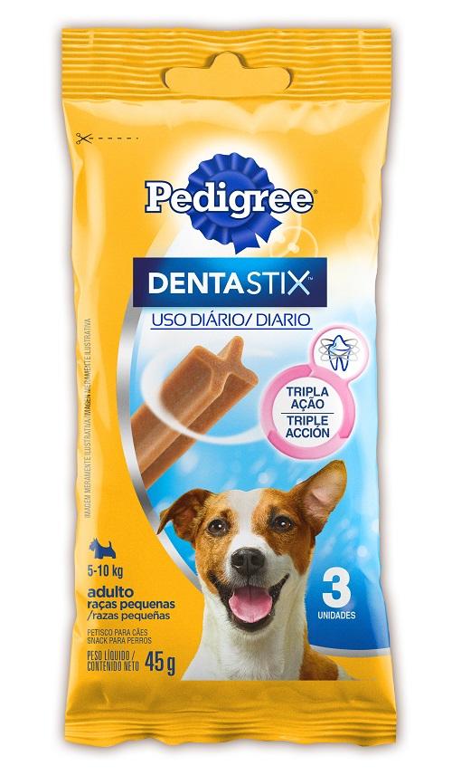 Petisco Para Cães Adultos Raças Pequenas Pedigree Dentastix Pacote 45g 3 Unidades