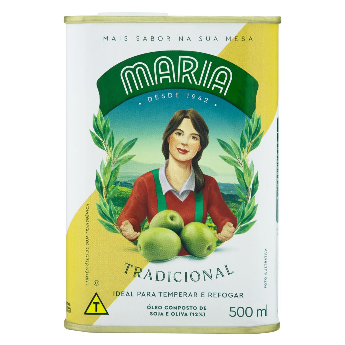 Óleo Composto De Soja E Oliva Tradicional Maria Lata 500ml