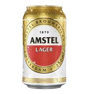 Cerveja Lager Puro Malte Amstel Lata 350ml