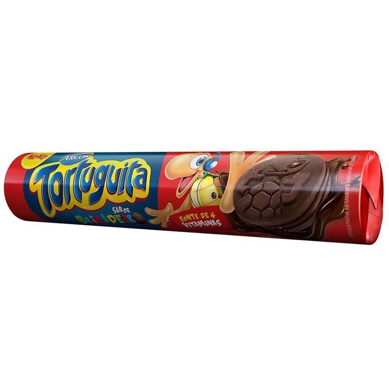 Biscoito Tortuguita Recheado Brigadeiro 130g Arcor