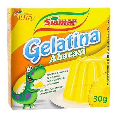 Gelatina Siamar Abacaxi 30G