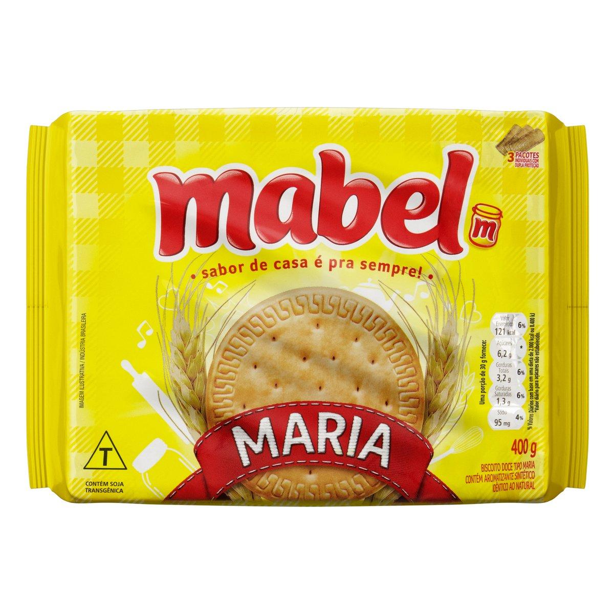 Biscoito Maria Mabel Pacote 400g 3 Unidades