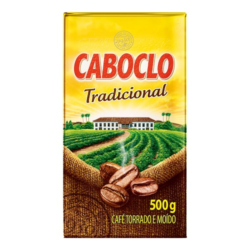 Café Torrado E Moído A Vácuo Tradicional Caboclo Caixa 500g