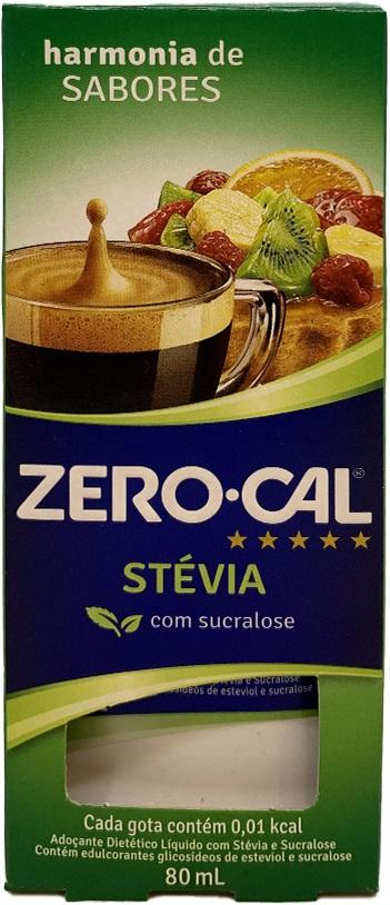 Adoçante Líquido Diet Com Stévia E Sucralose Zero Cal 80ml