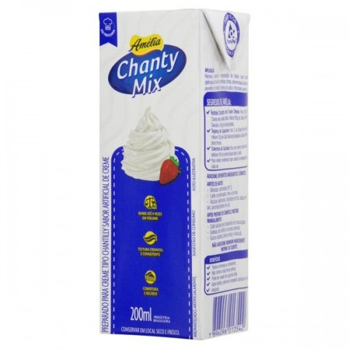 Chantilly Creme Amélia Chanty Mix Caixa 200ml