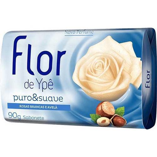 Sabonete Em Barra Rosas Brancas E Avelã Flor De Ypê Puro Suave Cartucho 90g