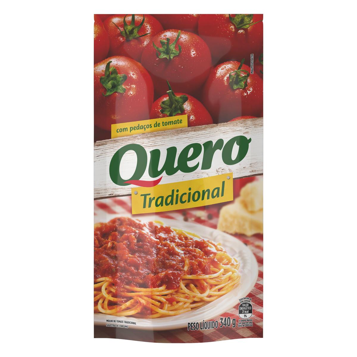 Molho de Tomate com Pedaços Tradicional Quero Sachê 340g