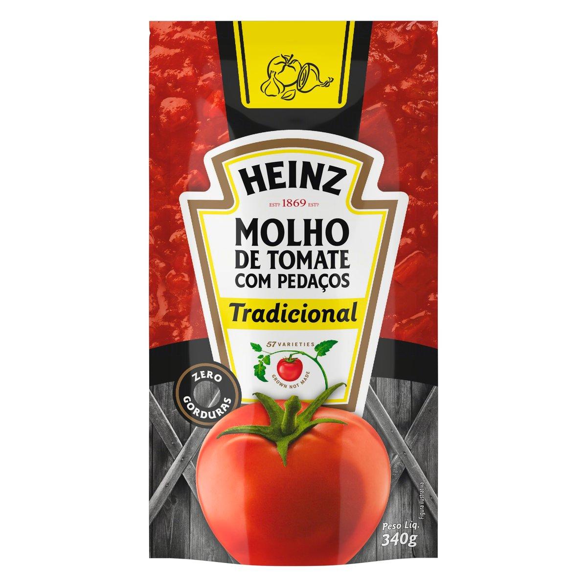 Molho de Tomate com Pedaços Tradicional Heinz Sachê 340g