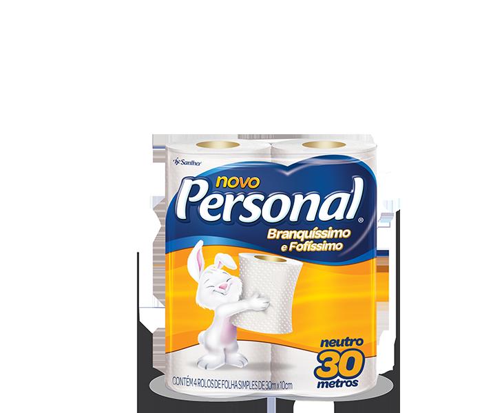Papel Higiênico Personal Folha Simples Neutro 4unidade X 30mt