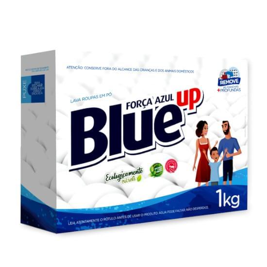 Sabão em Pó Blue Up Força Azul Embalagem 1Kg