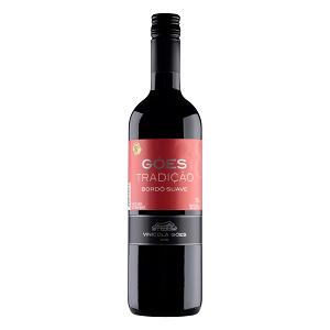 Vinho Brasileiro Tinto Suave Góes Tradição São Roque Garrafa 720ml