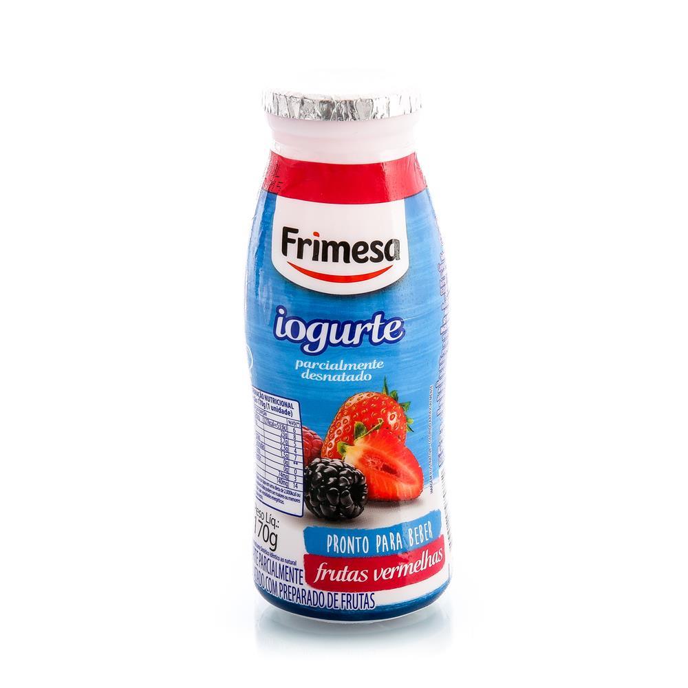 Iogurte Parcialmente Desnatado Frutas Vermelhas Frimesa Frasco 170G