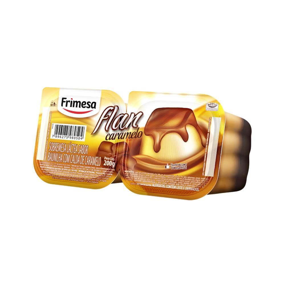 Sobremesa Lactea Baunilha Flan Caramelo 200g Frimesa