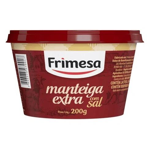 Manteiga Extra Frimesa com Sal 200G