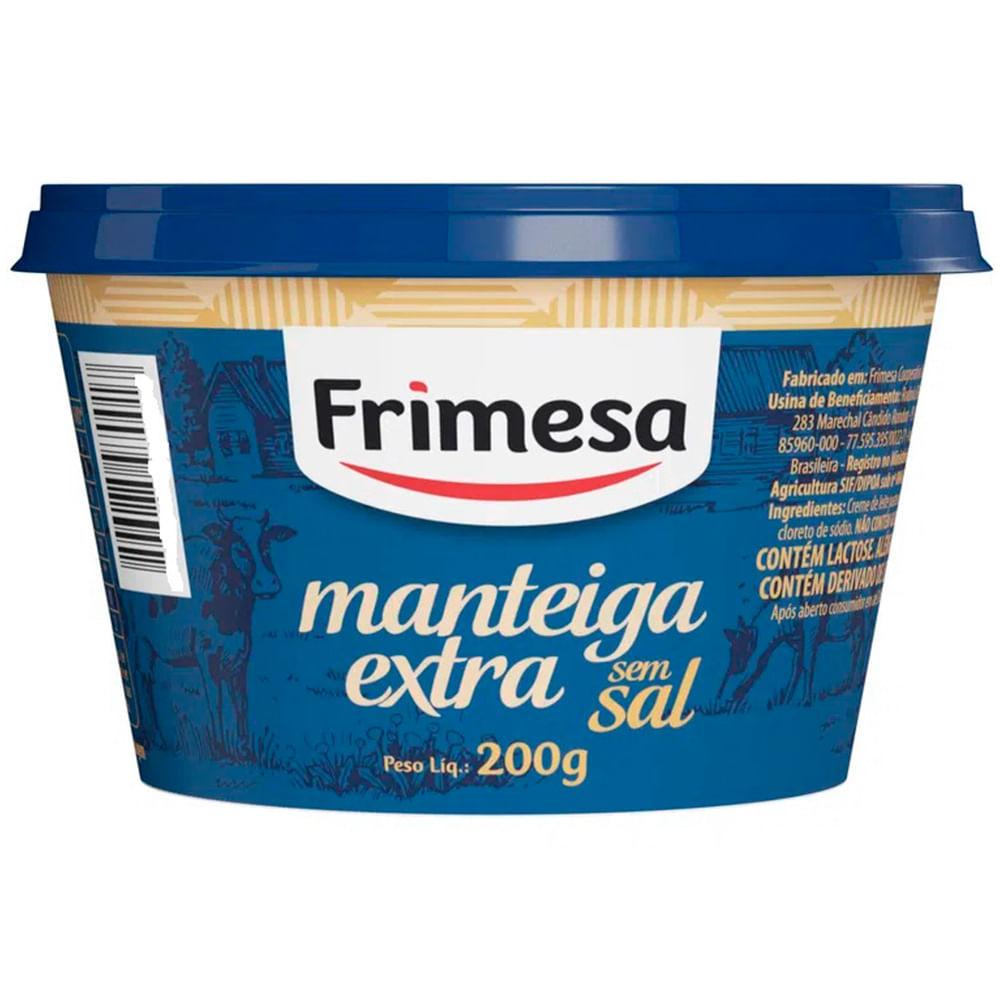 Manteiga Extra Frimesa sem Sal 200G