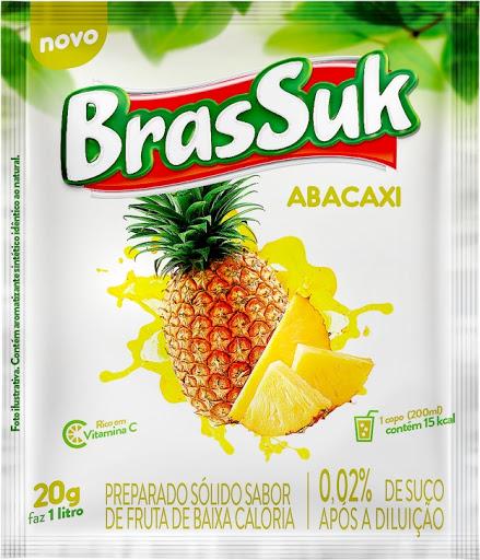 Refresco em Pó Brassuk Abacaxi Sachê 30G