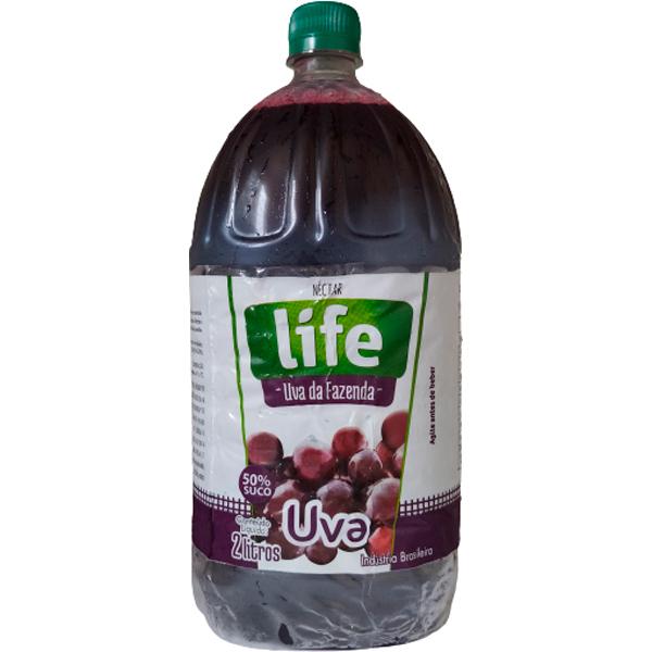 Suco Pronto Life Néctar de Uva Embalagem 2 Litros