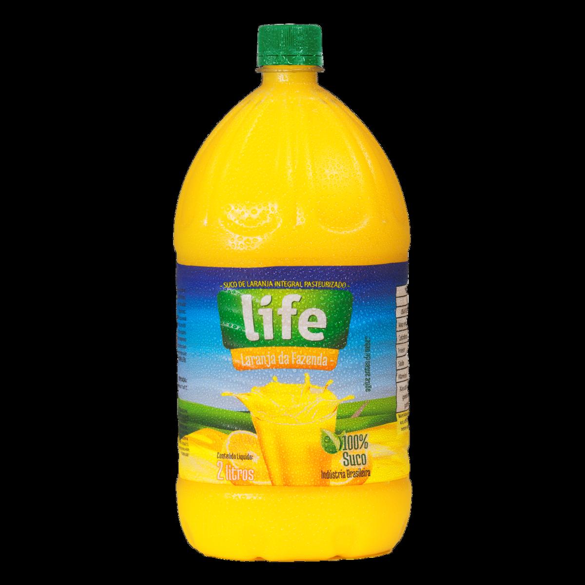 Suco Pronto Life Laranja Integral Embalagem 2L
