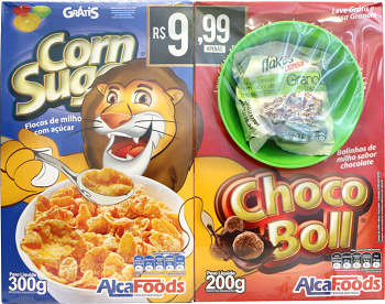 Kit Cereal Matinal 500g Chocobol/cornsugar