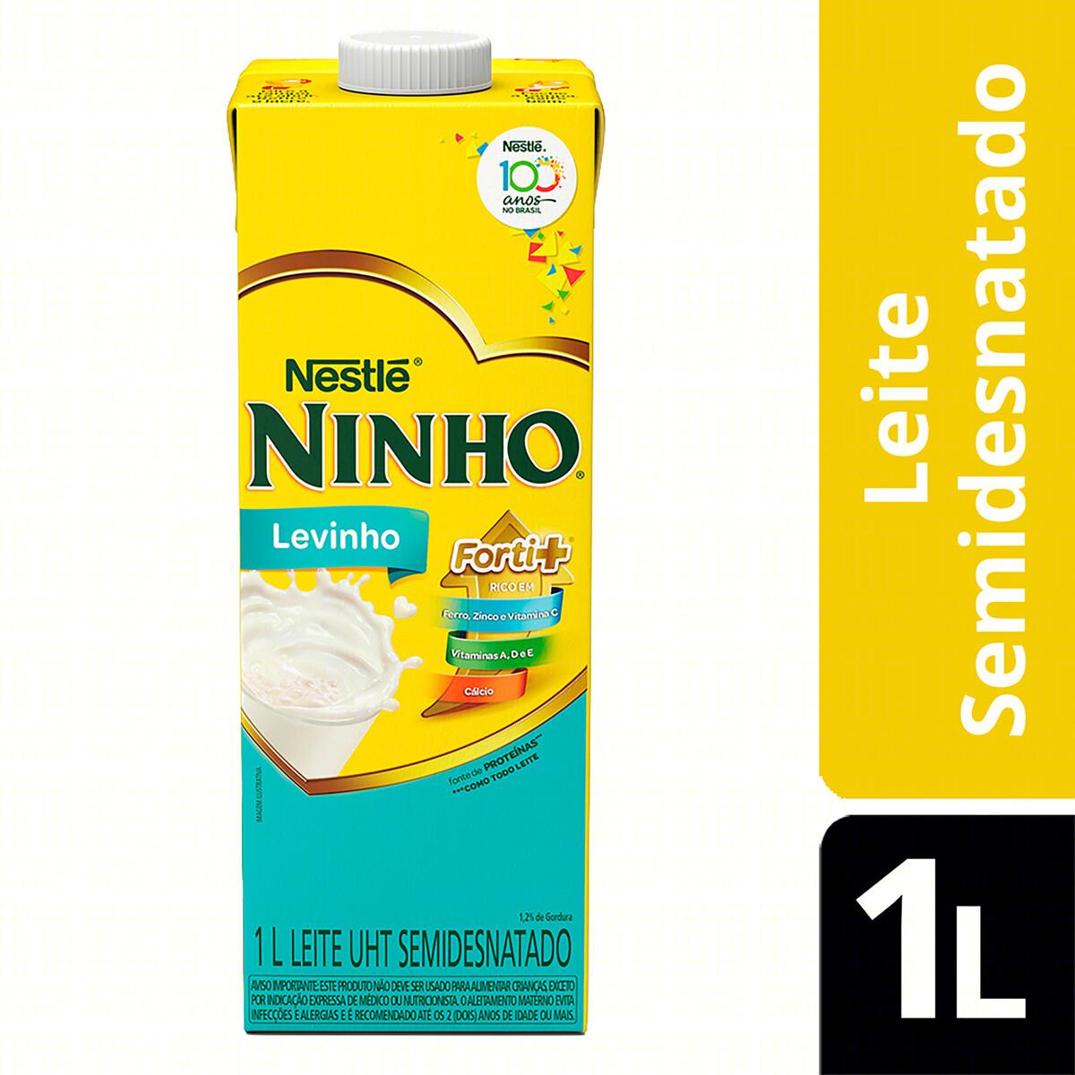 LEITE SEMI DESNATADO NINHO 1LT LEVINHO
