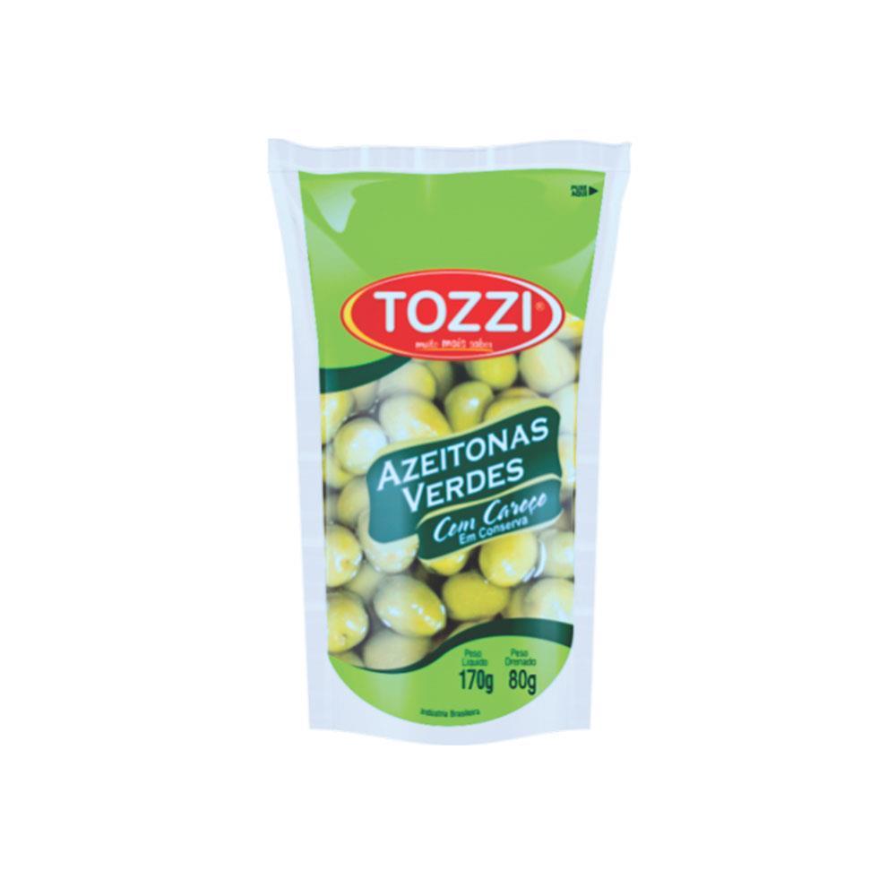 Azeitona Verde Tozzi com Caroço 80G